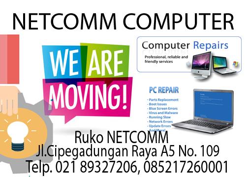 Lokasi NetCOMM terbaru